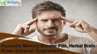 Ayurvedic Memory Booster Pills, Herbal Brain Power Enhancer Supplements