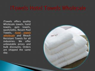 iTowels Hotel Towels Wholesale