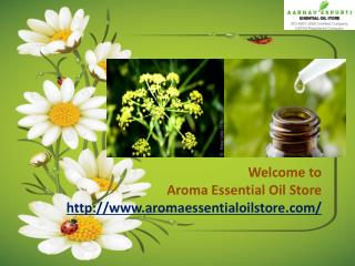 Natural Flower Oils at Aroma Essential Oil Store