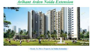 Find 2/3/4 bhk Home at Arihant Arden Noida