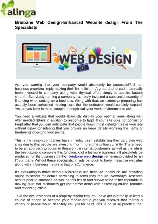 Brisbane Web Design-Enhanced Website design From The Specialists