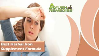 Best Herbal Iron Supplement Formula