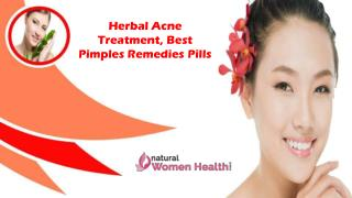 Herbal Acne Treatment, Best Pimples Remedies Pills