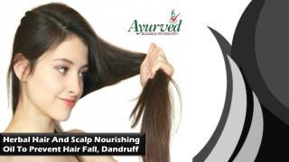 Herbal Hair And Scalp Nourishing Oil To Prevent Hair Fall, Dandruff