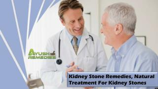 Kidney Stone Remedies, Natural Treatment For Kidney Stones