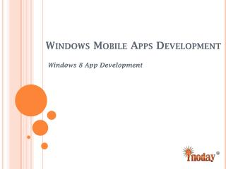 Windows 8 App Development Services