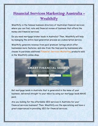 Financial Services Marketing Australia - Wealthify