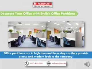 Comfortable and Spacious Office Partitions