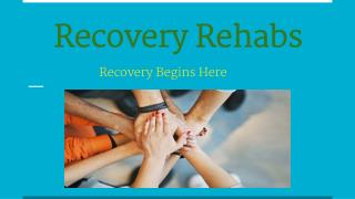 Recovery Rehabs -  A Drug Rehab Center