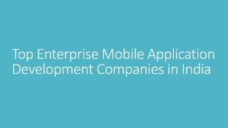 Award Winning Mobile App Development Companies In India