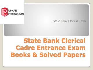 Bank Clerk Exam Books for Clerical Exam