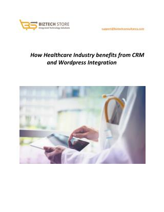 How Healthcare Industry benefits from CRM and Wordpress Integration