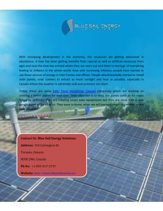 Best Solar panel contractor in Canada