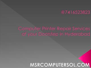 Printer repair services in Hyderabad at doorstep