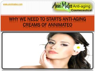 Why We Need To Starts Anti-Aging Creams OF ANNIMATEO