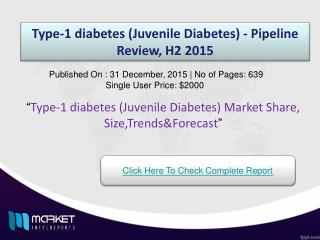 Type-1 diabetes (Juvenile Diabetes)  Market 2015