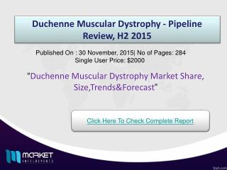 Key Factors Duchenne Muscular Dystrophy  Market 2015
