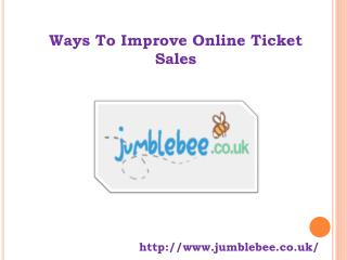 Ways To Improve Online Ticket Sales