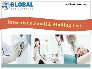 Internist's Email & Mailing List