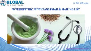Naturopathic physicians Email & Mailing List