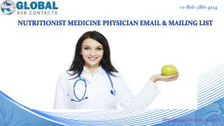 Nutritionist medicine physician Email & Mailing List