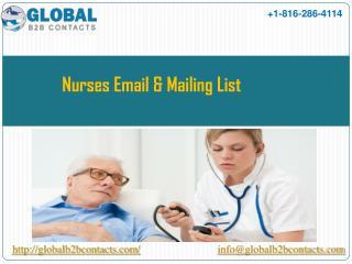 Nurses Email & Mailing List