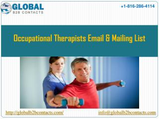 Occupational therapists Email & Mailing List