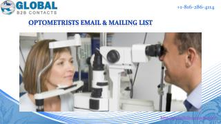 Optometrists Email & Mailing List