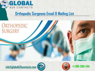 Orthopedic surgeons Email & Mailing List