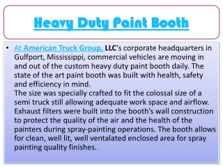 American Truck Group - Heavy Duty Paint Booth