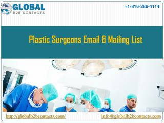 Plastic surgeons Email & Mailing List