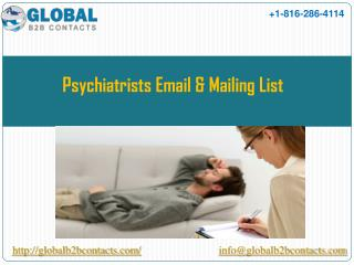 Psychiatrists Email & Mailing List