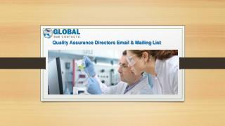 Quality assurance directors Email & Mailing List