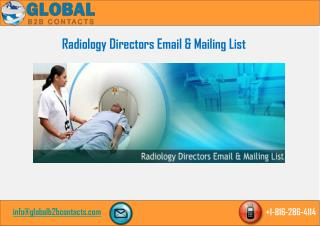 Radiology directors Email & Mailing List