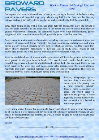 Want to Renew old Paving? Find out How!
