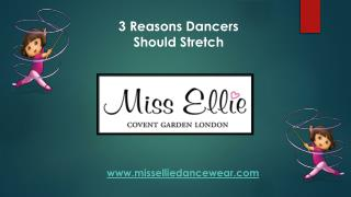 3 Reasons Dancers Should Stretch