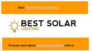 Solar spot lights