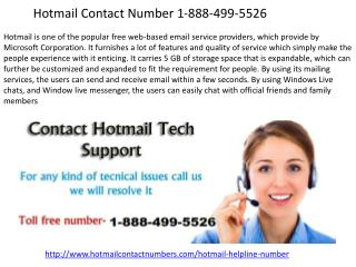 Hotmail Contact Number 1-888-499-5526