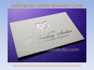 Affordable Letterpress Cotton Business Cards order online