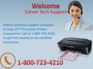 Canon Printer tech support help 1-800-723-4210