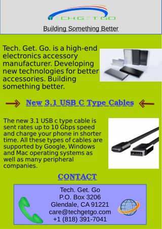 New 3.1 USB C Type Cables