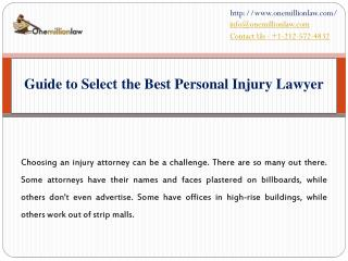 Guide to Select the Best Personal Injury Lawyer