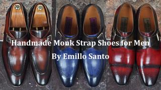 Handmade Monk Strap Shoes for Men