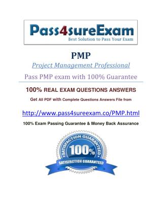 Pass4sure PMP Dumps