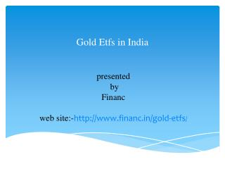 Gold etfs in india
