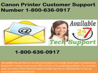 Smart solution for the Canon Printer Support Phone Number 1-800-636-0917