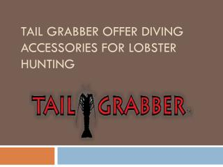 Tail Grabber offer Diving Accessories for Lobster Hunting