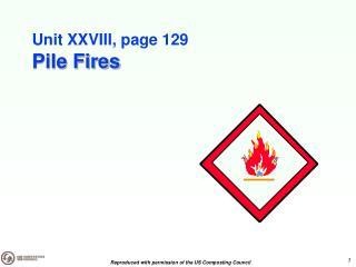 Unit XXVIII, page 129 Pile Fires