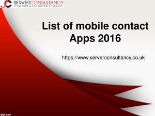 List of Mobile Contact Apps 2016