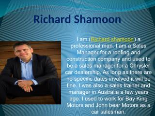 Richard Shamoon